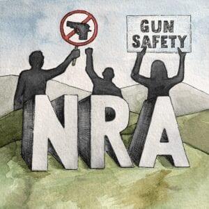 NRA and protestors seeing to block guns
